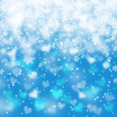 Artistic snowflake heart background — Stock Photo