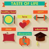 Taste of life. — Stock Vector