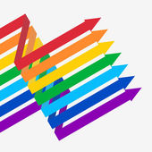 Rainbow arrows on white background — Stock Vector