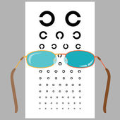 Glasögon och öga diagram. — Stockvektor