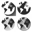 Globe vector silhouette.  Icons with long shadow — Stock Vector #58067807