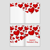 Valentines part flyer — Stockvektor
