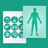 шаблон медицинского баннера. — Cтоковый вектор