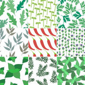 Set of 9 seamless hand drawn patterns — Stock Vector