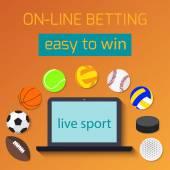 Concept for web banner sports betting statistics. — Cтоковый вектор
