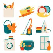 House work concept vector illustration. — Stock Vector