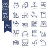 Set of outline icons for lifestyle.  — Stock Vector