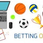 Постер, плакат: Concept for web banner sports betting statistics