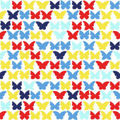 Multicolored butterflies background — Vettoriale Stock
