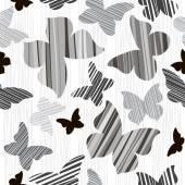 Monochrome butterflies background — Stock vektor