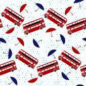 Padrão de buss e guarda-chuva — Vetor de Stock