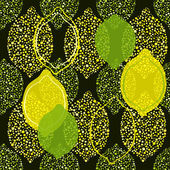 Lemon and lime pattern — Stock Vector