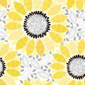 Seamless pattern sunflowers. — Stock Vector
