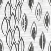 Seamless mönster med blad. — Stockvektor