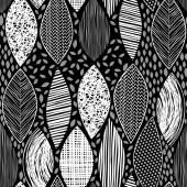 Seamless mönster med blad — Stockvektor