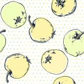Seamless mönster med äpplen. — Stockvektor