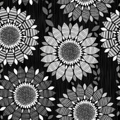 Seamless mönster av abstrakt blommor — Stockvektor
