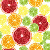 Seamless pattern with  citrus fruits — Stock Vector