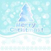 рождественская поздравительная открытка — Cтоковый вектор