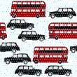 Seamless pattern with double-decker buses — Stock Vector #59283577