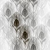 Seamless pattern with peacock feathers — Stock Vector