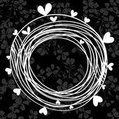 Sfondo floreale monocromatico — Vettoriale Stock