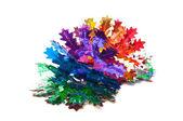 Christmas decoration garland of foil — Zdjęcie stockowe