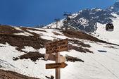 Shymbulak ski resort. Talgar Pass. — Stockfoto