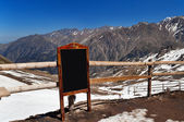 Writing board in the mountains — ストック写真