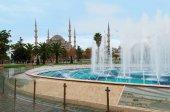 Blå moskén i Istanbul, i Sultanahmet-torget — Stockfoto
