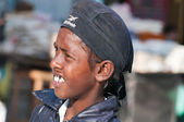 Indian Young boy on the street in Amritsar. India — Stock Photo