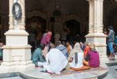 In Sri Krishna-Balaram Temple — Stock Photo