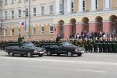 Rehearsal of Military Parade — Stock Photo