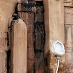 Male toilet on Ghats in Varanasi — Stock Photo #73135095