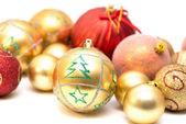 Different Christmas balls — Stock Photo