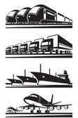 Large cargo transportation — Stock Vector