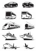 пассажирская транспортировка в перспективе — Cтоковый вектор