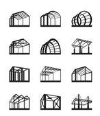 Metalen structuren in perspectief — Stockvector