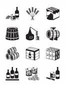 Production of whiskey and brandy — Vetor de Stock