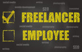 Freelancer Or Employee — Stock Photo