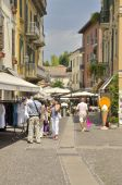 Street in Peschiera — Stock Photo