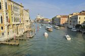 Boats in the Grand Canal — Stock Photo