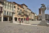 Plaza in Bassano — Stock Photo