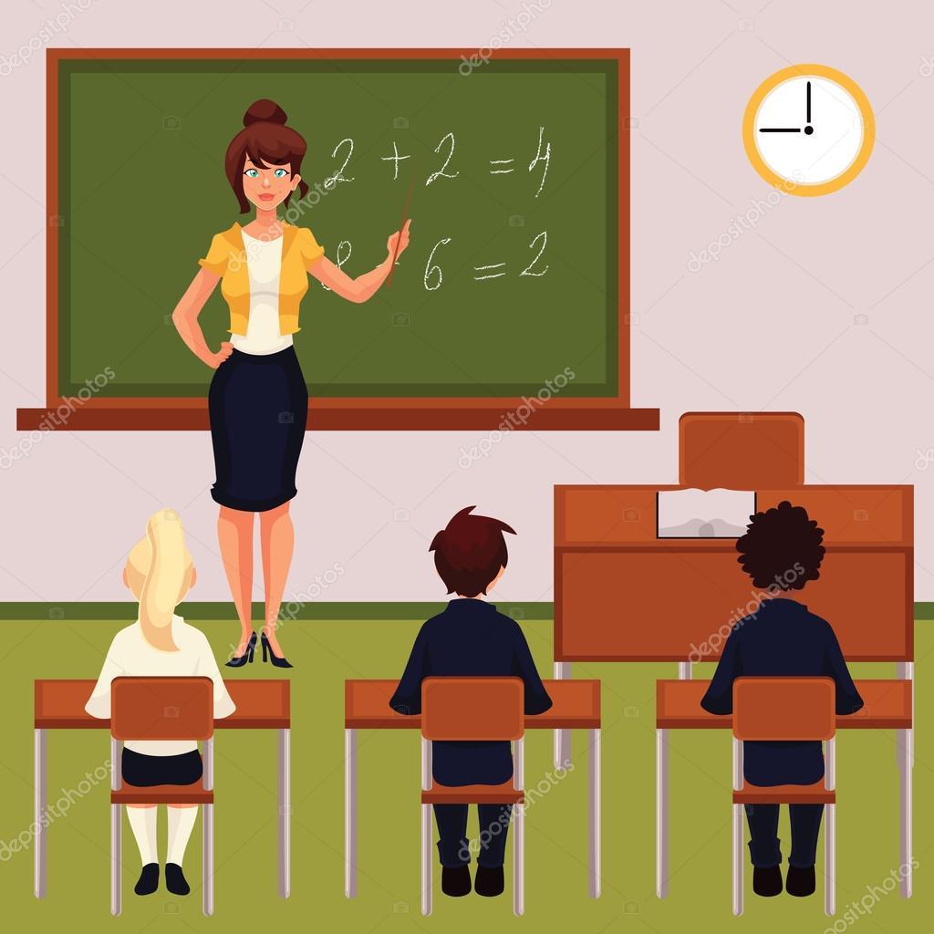 Modern Math Classroom ~ Lezione di matematica con insegnanti e allievi in aula