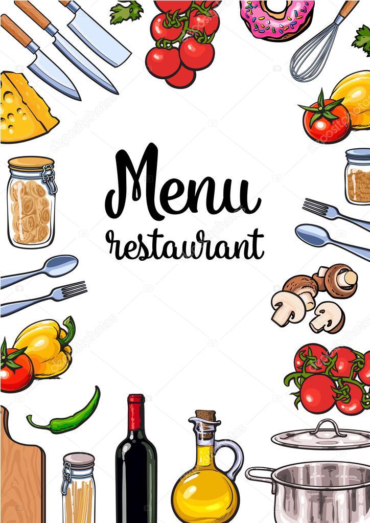 Vegetales utensilios de cocina queso y pasta dise o de - Utensilios de cocina de diseno ...