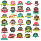 Collection labels and ribbons — Stock Vector