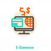 Flat design vector illustration concepts of online payment methods — Vetorial Stock