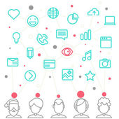 Social network and teamwork concept — Stockvector