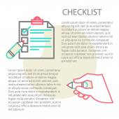 Line illustration of a checklist — Wektor stockowy