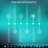 Timeline infographic with unfocused background — Stock Vector